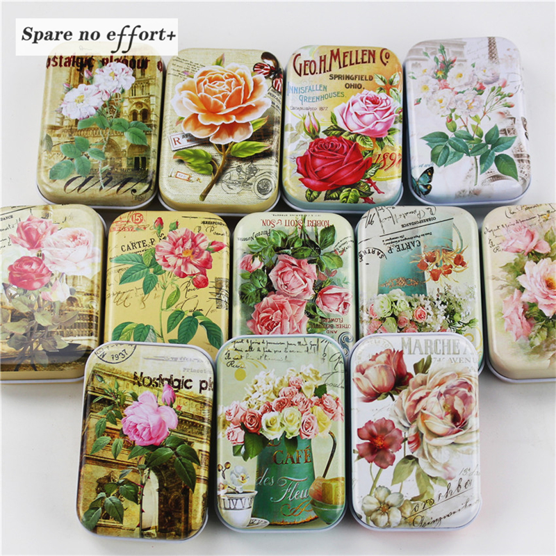 12 Pieces/lot Mini iron box xylitol storage box wedding Jewelry Pill Cases portable tin boxs container Free Shipping