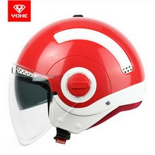 2017, лето, новый yohe двойные линзы пол-лица мотоциклетный шлем моды МИНИ-Электрический велосипед шлемы, изготовленные из ABS для мужчин/женщин