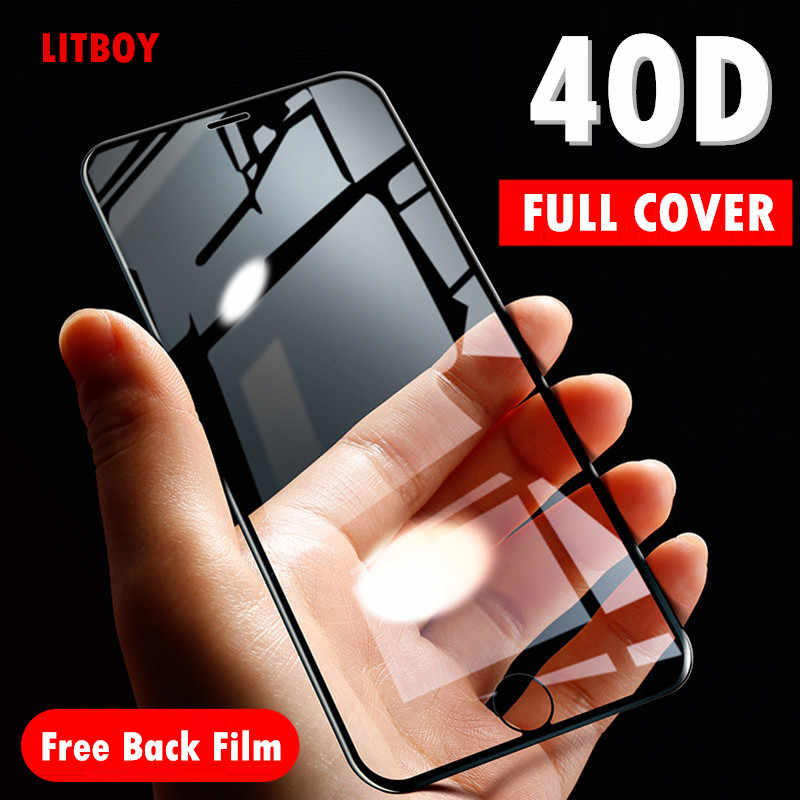 40D Curved Soft Edge Protective Glass For iPhone 7 6 6S 8 Plus X Tempered Screen Protector For iPhone X XR XS Max 7 6 Glass Film
