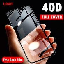 40D Gebogen Zachte Rand Beschermende Glas Voor iPhone 7 6 6S 8 Plus X Gehard Screen Protector Voor iPhone X XR XS Max 7 6 Glas Film
