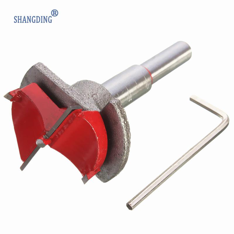35mm Forstner Auger Drill Bit Wooden Wood Cutter Hex Wrench Woodworking Hole Saw For Power Tools 5 pcs set auger drill forstner bit set hinge boring woodworking hole saw cutter round shank wood tools for drilling machine