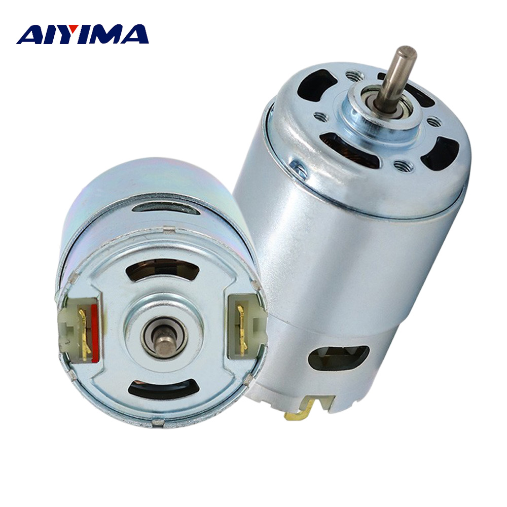 Aiyima 895 DC Motor High Torque High Power Generator Ball Bearing DC 12-24V Low Speed 775 Upgrade Motor aiyima double ball bearing motor dc 12v dc 24v three phase hall dc brushless motors high torque mute wind turbines for diy
