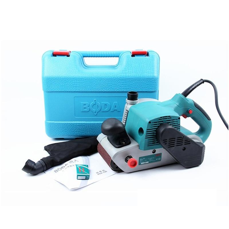 Portable sand belt conveyor belt grinder Small woodworking polishing machine belt sander 100*610 1400W Q10110 25 762mm electronic belt sander polishing machine