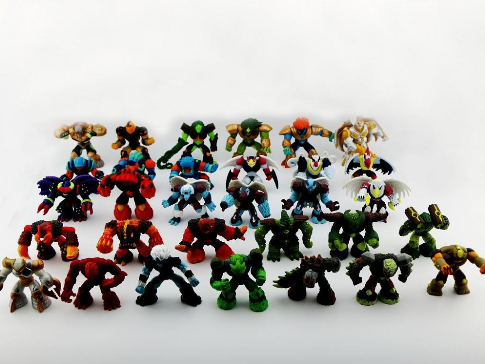 Kids Toys Action Figure: 50 Pcs/lot Cartoon Gormiti PVC Action Figures,Anime