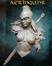 تمثال تمثال نصفي لجندي الفارس 1/10 لعبة قديمة من الراتنج مجموعة مصغرة غير مطلية