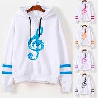 0570ebf67 Womens Musical Notes Long Sleeve Hoodie Sweatshirt Hooded Pullover Tops  Blouse Shawn Mendes Harajuku Hoodie Bts