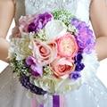 Romantic Wedding Bouquet mixed colors Brooch bouquet wedding accessories artifical Wedding flowers Bridal Bouquets FE11
