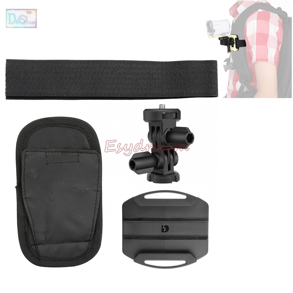 Backpack Mount Adapter for Sony Action Cam HDR-AS15 HDR-AS30V HDR-AS100V HDR AS15 AS20 AS30V AS200V AS100V XIAOMI YI as VCT-BPM1