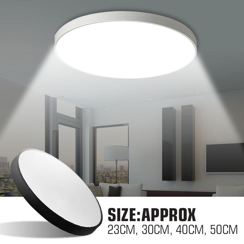 Smuxi 23/30/40/50cm LED Living Room Bedroom Study Pendant Lamp White Light Ultra Thin Super Bright
