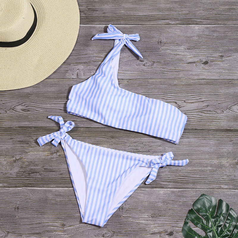 HTB1kVxFeoGF3KVjSZFmq6zqPXXaE - Sexy Stripe Bikinis Set Women One Shoulder Swimwear Low Waist Bandage Bathing Suit Swimsuit Summer Tube Top Female Beachwear