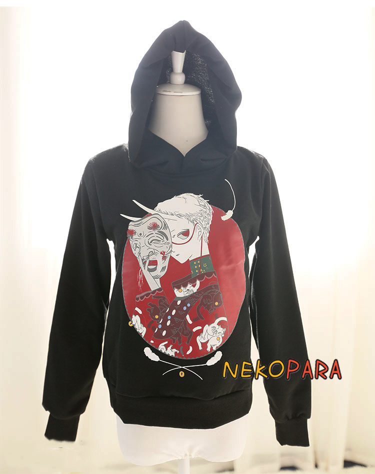 Mask Boy Cool Harajuku Womenu0026#39;s Long Sleeve Hoodie Hooded Sweatshirt Tops Cute Color Black-in ...