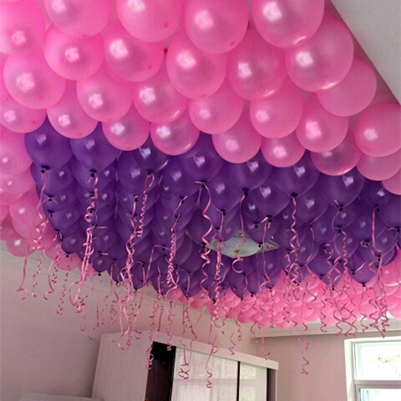 100pcs/lot 1.2g Balloon Wedding Decoration Patry Supply Birthday Balloon -Free G