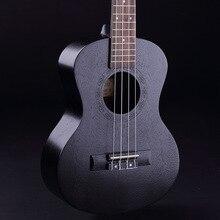 23inch Ukulele UKU Black Mahogany Wood Ukulele 4 Strings Guitar 15/18 Frets Hawaiian Mini Guitar Instrument Ukelele