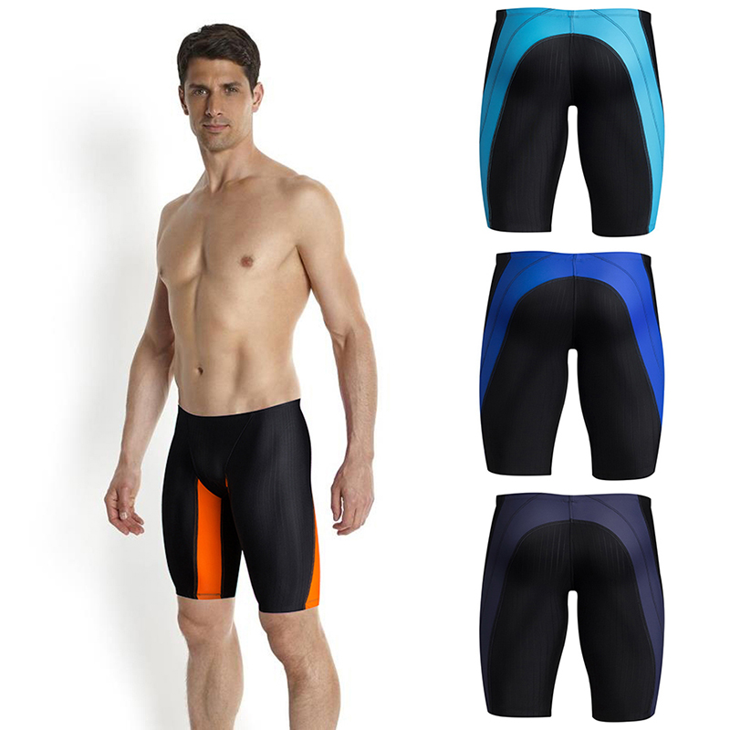 Professional Swimwear Jammers Men Boys Competitive Swimming Trunks Sport Surf Beack   Boards     Shorts   Wotkout Swimsuit