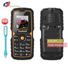 """Wirklich Wasserdicht! Guophone V3S 4000 mAh Energienbank Wasserdichte Handy 1,77 """"Dual Sim Karten Taschenlampe Bluetooth ältere handy"""