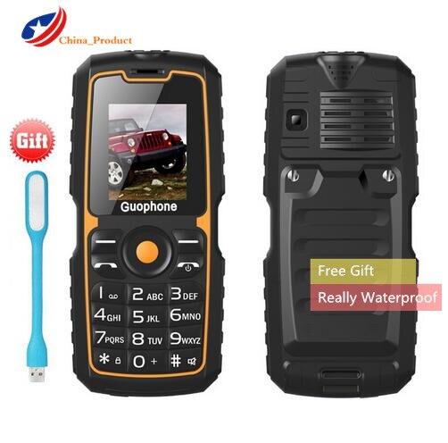 Really Waterproof! Guophone V3S <font><b>4000mAh</b></font> Power Bank Waterproof <font><b>Cellphone</b></font> 1.77&#8220;Dual Sim Cards Flashlight Bluetooth elder mobile