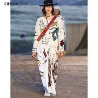 Cosmicchic Haute Couture Stricken Wollpullover Pullover Handgemachte Totem Stickerei Langarm Pullover Aushöhlen Runway Pullover 276