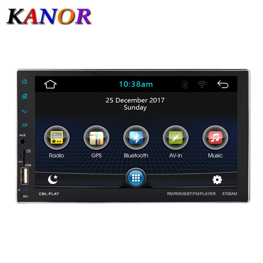 KANOR  7 Android Car Radio Stereo GPS Navigation Bluetooth USB SD 2 Din Touch Car Multimedia Player Audio Player AutoradioKANOR  7 Android Car Radio Stereo GPS Navigation Bluetooth USB SD 2 Din Touch Car Multimedia Player Audio Player Autoradio