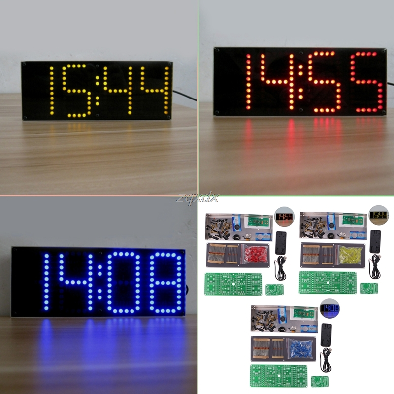 ECL-132 DIY Kit Supersized Screen LED Electronic Display With Remote Control Z07 Drop ship led tower display rhythm lamp with infrared remote control electronic diy kits soldering kits diy brain training toy