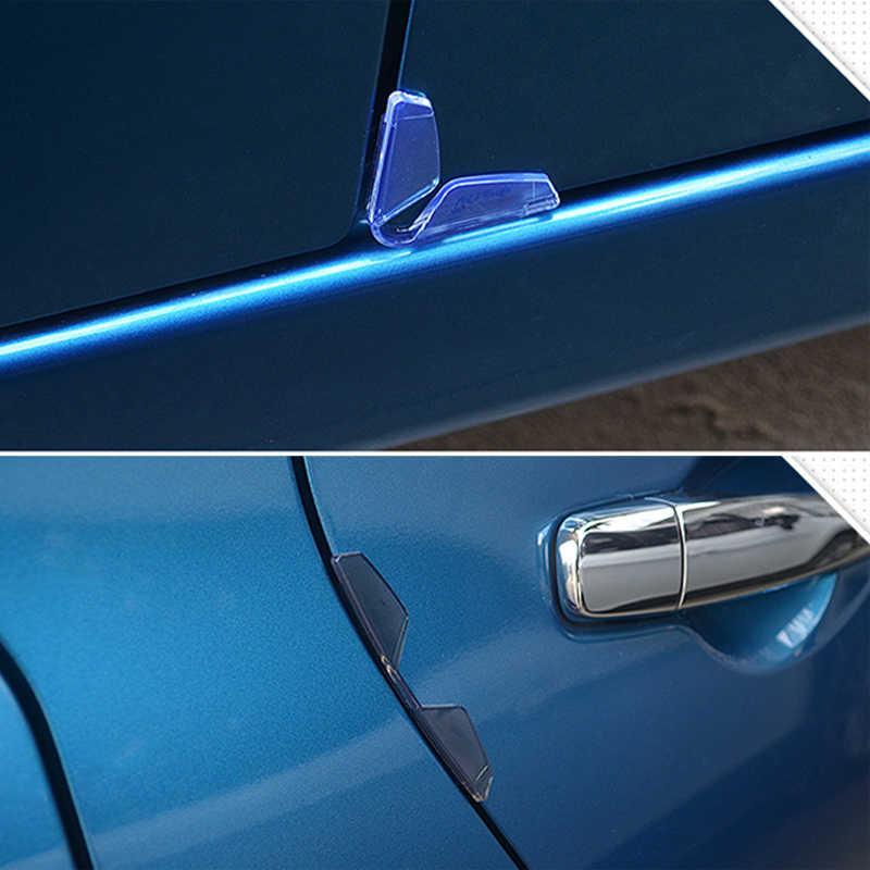4 шт. универсальная дверь машины Edge охранники протектор бампер автомобиля анти-столкновения полосы ПВХ стикер Авто Защита от царапин формовочная сторона