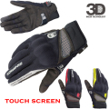 Komine GK-163 Outdoor Sports Full Finger Knight Riding Motorbike Motorcycle Gloves 3D Breathable Mesh Fabric men Leather Glove