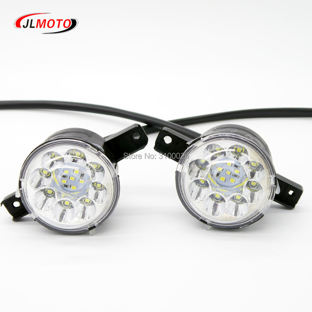 1Pair/2pcs LED Front Light of Jinling Actionbikes Nirtro 50cc 70cc 110cc 125cc Kids Mini ATV Quad Bike JLA-07-06 S-12 S-8 Parts