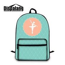 Dispalang Unique Ballet Girls Print School Backpack Pretty Shoulder Bookbag with Strap Lightweight Back Pack for College Mochila