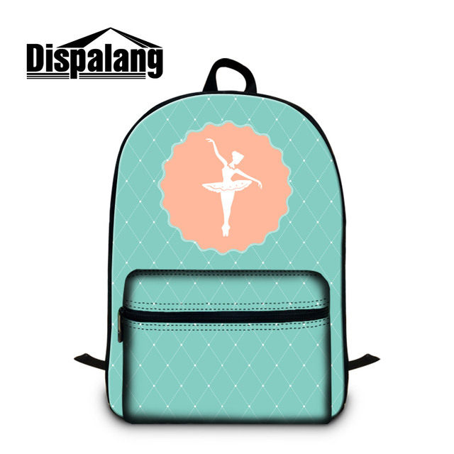 9330f747ce82 US $26.9 33% OFF|Dispalang Unique Ballet Girls Print School Backpack Pretty  Shoulder Bookbag with Strap Lightweight Back Pack for College Mochila-in ...
