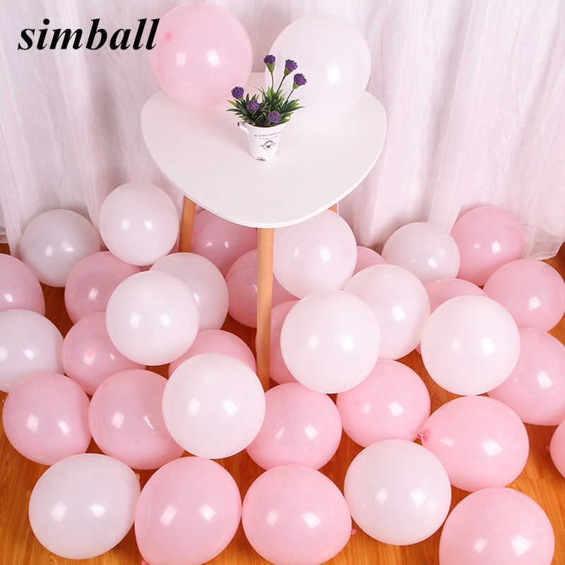 10pcs/lot 10 Inch Thick 1.5g Baby Pink Latex Pearl Balloons Helium Balloon Wedding Birthday Party Decorations Globos Balony Toys
