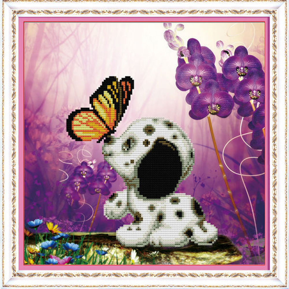 Electronic Components & Supplies Embroidery Package Free Shipping Cross Stitch Kits Spotty Dog Piano