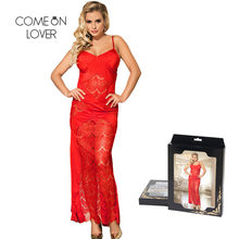 1102c32489 Comeonlover Wedding Nighty Dress Sexy Women Red Sexy Straps Night Gown Long  Backless Home Wear Casual