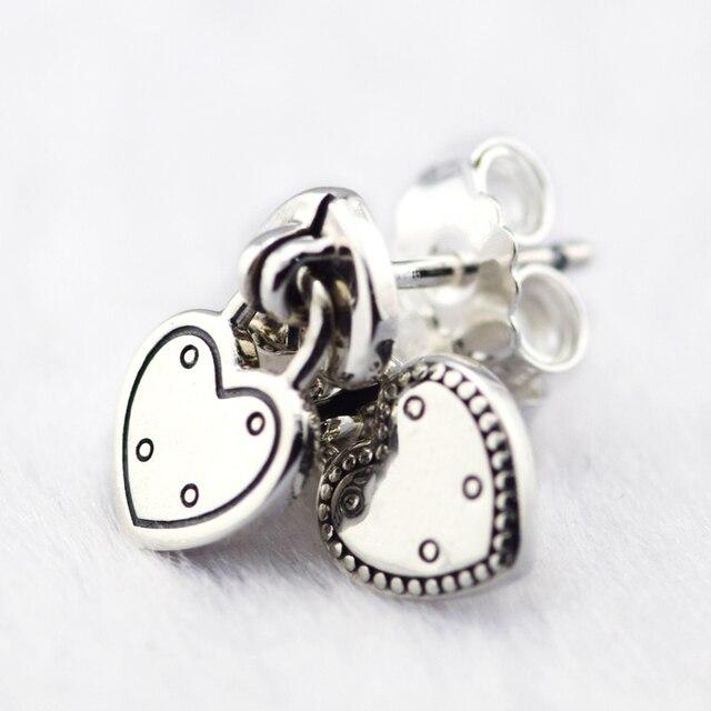 925 Sterling Silve Jewelry Women Earring of Love Lock Earring Suited to Every Oc