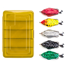 5pcs Frog Fishing Lures Kit Snakehead Lure Floating Ray Frog Artificial Bait Fishing Accessories Peche