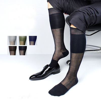 2017 Men New Arrival nylon stockings Sexy Male stockings sock mens High quality socks Summer men Business socks export goods