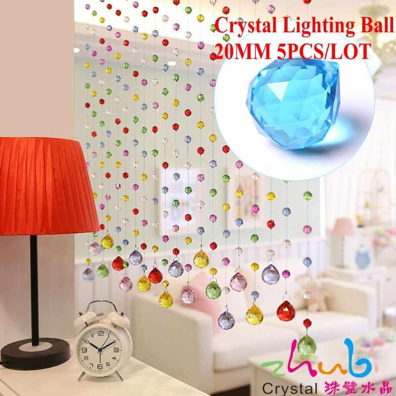 Crystal Clear Glas Bal 20 MM (5 stks/partij) hoge Kwaliteit Magic Feng Shui Aziatische Quartz Crystal Ball Bol Voor Home Decoratie