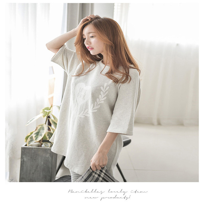 Korean Style Pahamas For Pregnant Women Summer Postpartum Nurse Confinement Clothes Five ...