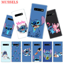 Stitchs Blue Fashion Phone Case for Samsung Galaxy S10 Plus S10E Lite A50 A70 A30 A10 A20E M30 M20 M10 A20 A80 A40 Coque Cover