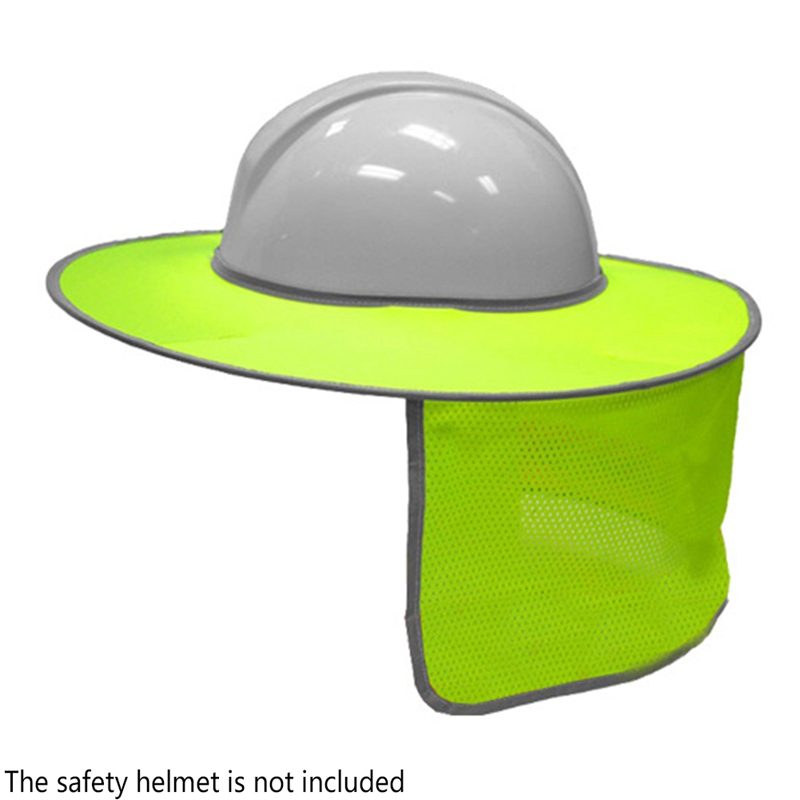 Schutzhelm Motiviert Sicherheit Harte Hut Kappe Safurance Reflektierende Streifen Hals Schild Sonne Schatten Schutzhelme Arbeitsplatz Sicherheit Weich Und Leicht