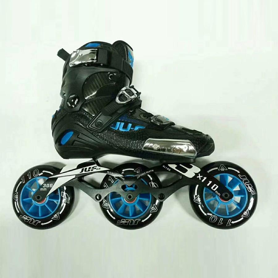 War Wolf мм 3*110 мм Скорость Скейт полу-solft взрослых роликовые коньки обувь Роликовые коньки Patines для уличных гонок Бесплатная катание