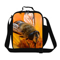 Dispalang custom lunch bag 3D lifelike bee printing thicken fresh keeping cooler bags for men women thermal food picnic lunchbox