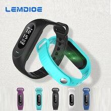 Lemdoie B15P Bluetooth Smart Band IP67 Водонепроницаемый Поддержка сердечного ритма Приборы для измерения артериального давления Мониторы Фитнес трекер умный Браслет