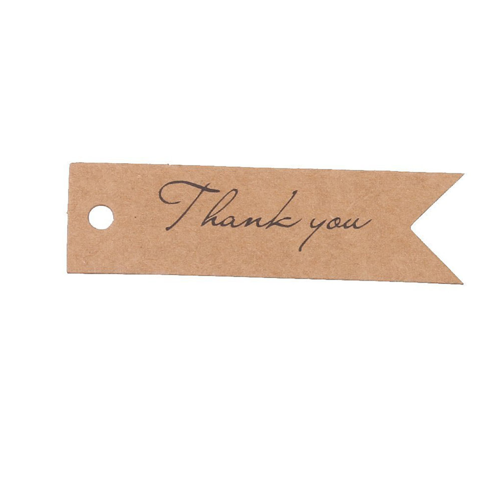 100pcs Thank you Letter Kraft Paper Wedding Favor Gift Hang Label ...
