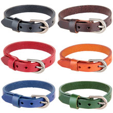 Fashion Belt Leather Wrist Friendship Wide Bracelet for Women Men Buckle Cuff Bracelet Belt Wristband Vintage Punk Jewelry Gifts(China)