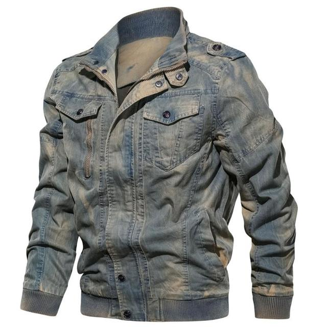 New spring and autumn men's jacket retro casual cotton jacket large size coat denim