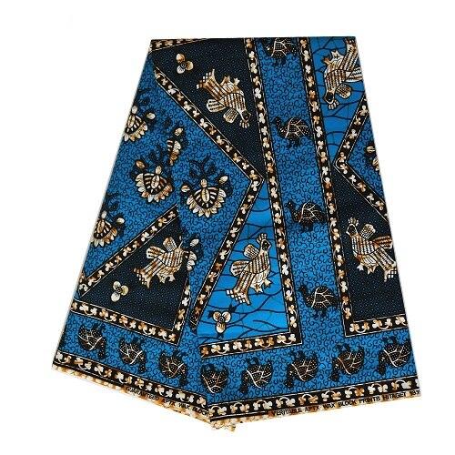 Mylb 6 Yards 100% coton tissu vert africain cire vêtements africain néerlandais cire tissu pour robe de soirée