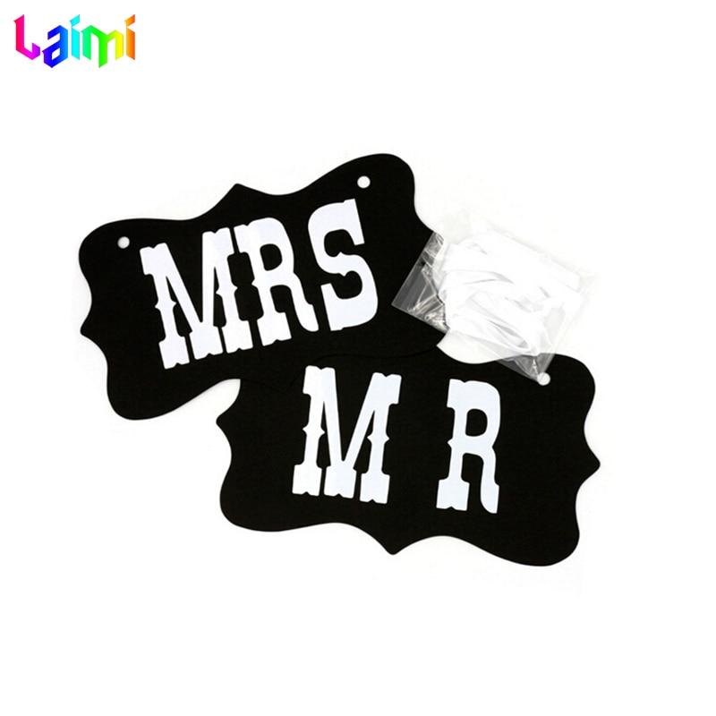 Mr & Mrs Poroka Foto rekviziti Predsednik Signs Banner Odlikovanja - Prazniki in zabave - Fotografija 2
