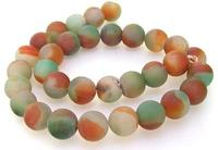 Unique Pearls jewellery Store Charm Newest Green Coffee Agate 12mm Gemstone Loose Beads One Full Strand 15'' LC3 0277