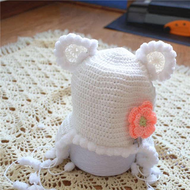 free shipping, baby Crochet Newborn Aviator Hat, , Baby Boyt girl ...