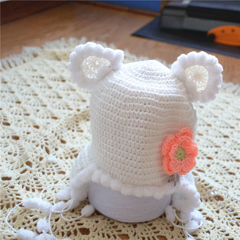 free shipping, baby Crochet Newborn Aviator Hat, , Baby Boyt girl hat, Photo Prop 100% cotton