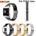Ремешок для часов для Fitbit Ionic из нержавеющей стали металлический сменный ремешок для Fitbit Ionic Смарт-часы ремешок браслет часы
